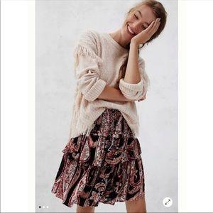 Anthropologie Myla Tiered Paisley Skirt (C1)